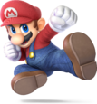 Artwork of Mario from Super Smash Bros. Ultimate