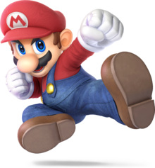 Artwork of Mario from Super Smash Bros. Ultimate