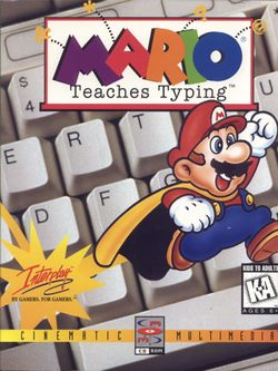 The box art for Mario Teaches Typing