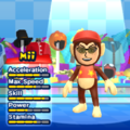 Diddy Kong Mii Costume in the game Mario & Sonic at the London 2012 Olympic Games for the Wii.