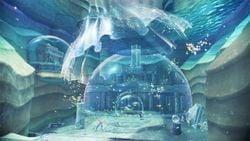 Lake Kingdom artwork from Super Mario Odyssey.