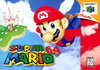 North American box art of Super Mario 64.