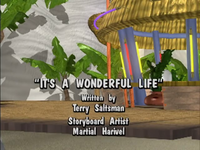 The title screen for It's a Wonderful Life