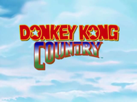 The title screen for the Donkey Kong Country TV show.