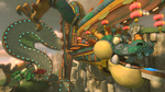 An overview of Dragon Driftway from Mario Kart 8
