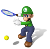 Artwork of Luigi from Mario Power Tennis.