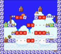 Level 7-7 map in the game Mario & Wario.