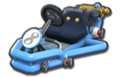 Thumbnail of a light-blue Pipe Frame (with 8 icon), in Mario Kart 8.