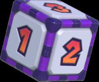 Artwork of a Cursed Dice Block in Mario Party Superstars