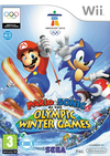 Official box cover for the Wii version of Mario & Sonic at the Olympic Winter Games
