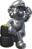 Artwork of Metal Mario from Mario Kart 7