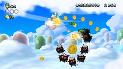 Screenshot of Cloudy Capers in New Super Luigi U.