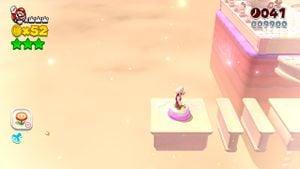 Luigi sighting in Pretty Plaza Panic in Super Mario 3D World.