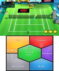 Rally Challenge in tennis in Mario Sports Superstars