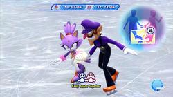 Screenshot of Mario & Sonic at the Sochi 2014 Olympic Winter Games.
