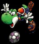 Yoshi, as seen in Super Mario Strikers.
