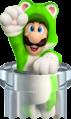 Cat Luigi Pipe Artwork - Super Mario 3D World.png