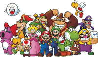 A picture on a special poster from Club Nintendo.