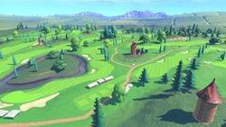 Alternate View of Bonny Greens in Mario Golf: Super Rush