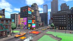 View of New Donk City in Mario Golf: Super Rush