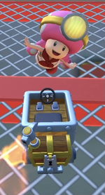 Toadette (Explorer) performing a trick.