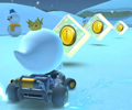 The icon of the King Boo Cup challenge from the Vancouver Tour and the Peachette Cup challenge from the Rosalina Tour in Mario Kart Tour