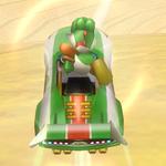 Yoshi performing a Trick