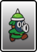 A Green Spike Snifit card from Paper Mario: Color Splash