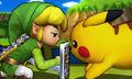 SSB4 3DS - Toon Link and Pikachu.png