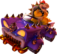 Artwork of Bowser in the Koopa Chase, from Super Mario 3D World