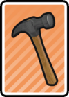 A Claw Hammer Card in Paper Mario: Color Splash.