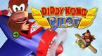 Artwork of Diddy Kong Pilot showing Diddy Kong, Donkey Kong, and the game logo.