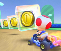 The icon of the Dry Bowser Cup challenge from the Cat Tour in Mario Kart Tour.