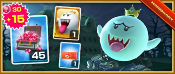 The King Boo Pack from the New Year's Tour in Mario Kart Tour