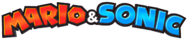 The current logo of the  'Mario & Sonic series.