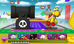 Screenshot of World 6-1, from Puzzle & Dragons: Super Mario Bros. Edition.