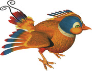 Artwork of Parry the Parallel Bird from Donkey Kong Country 3: Dixie Kong's Double Trouble!