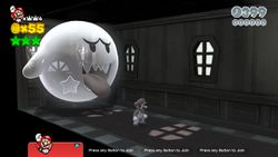 Shiftier Boo Mansion in the game Super Mario 3D World