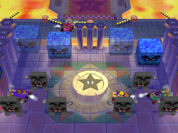 Tricky Tires at night from Mario Party 6