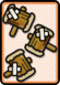 A Worn-Out Jump ×3 Card in Paper Mario: Color Splash.
