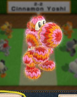 Cinnamon Yoshi, from Yoshi's Woolly World.