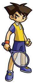Artwork of Clay (Max) fromMario Tennis: Power Tour