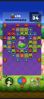 Stage 537 from Dr. Mario World