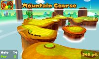 Hole 14 of Mountain Course in Mario Golf: World Tour
