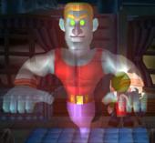 Screenshot of Biff Atlas from Luigi's Mansion