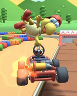 Red Koopa (Freerunning) performing a trick.