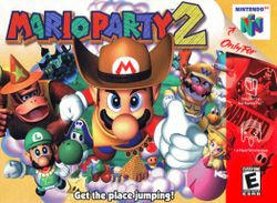 The front box art for Mario Party 2