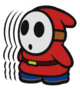 Shy Guy 4-Stack sprite from Paper Mario: Color Splash