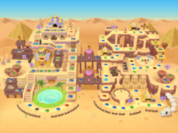 The solo version of the Pyramid Park board from Mario Party 7