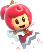 Artwork of the Red Sprixie Princess from Super Mario 3D World.